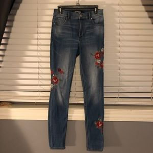 Express embroidered jeans